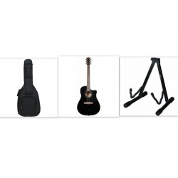 Fender CD-60CE Black Guitarpakke