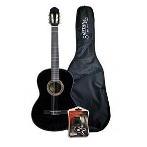 Santana Guitarpakke Black Med Tuner og Taske