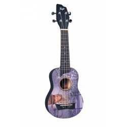 Flight Sopran Ukulele Elvis Jeansdesign m/bag