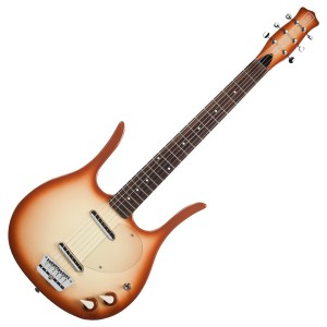 Danelectro Longhorn 58 Elektrisk Guitar, kobber Burst