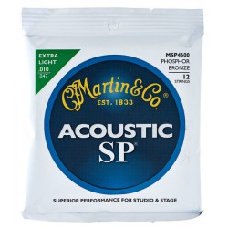 Martin MSP4000 western-guitar-strenge, 010-047 extra light