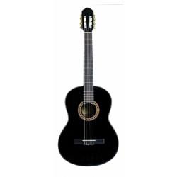 Santana B8 klassisk 4/4 guitar, m/pickup, Sort LEFT