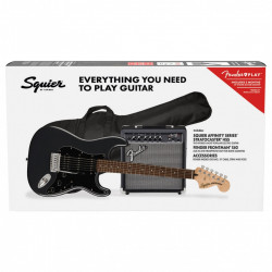 Squier Affinity Stratocaster HSS Pack LRL, Charcoal Frost Metallic