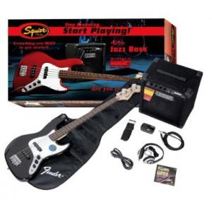 Fender Squire Jazz Bass Black
